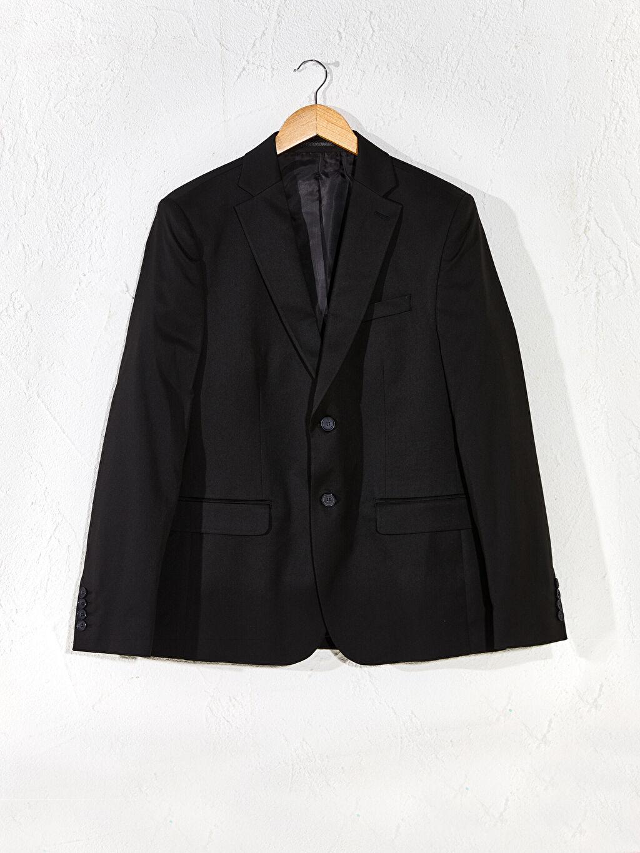 Siyah Dar Kalıp Takım Elbise Ceketi 9W1963Z8 LC Waikiki