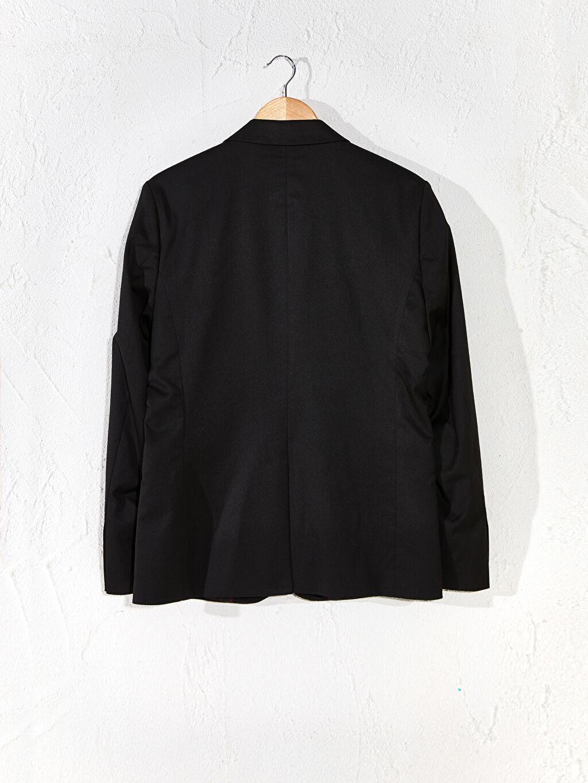 Siyah Dar Kalıp Takım Elbise Ceketi