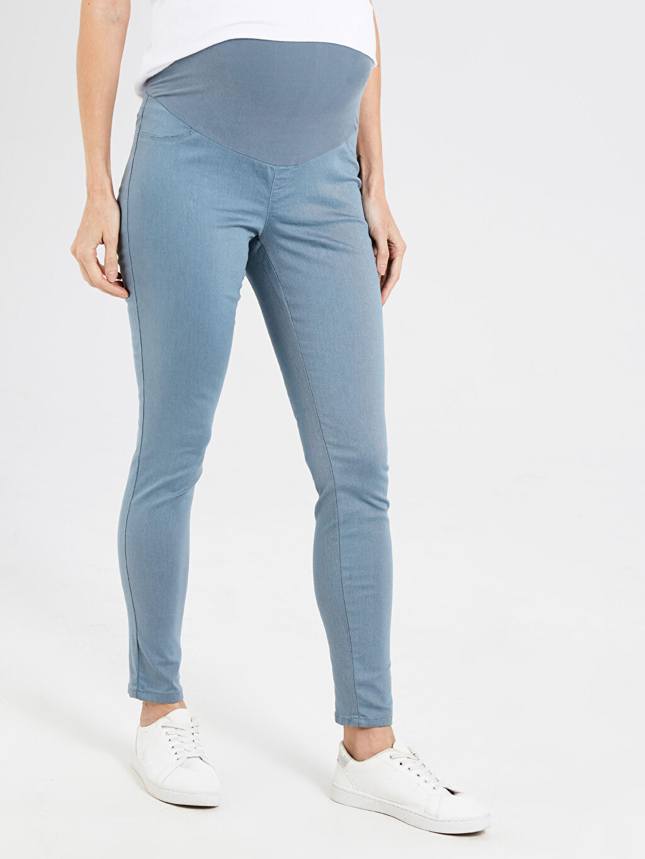 %70 Pamuk %25 Polyester %5 Elastan Skinny Hamile Pantolon