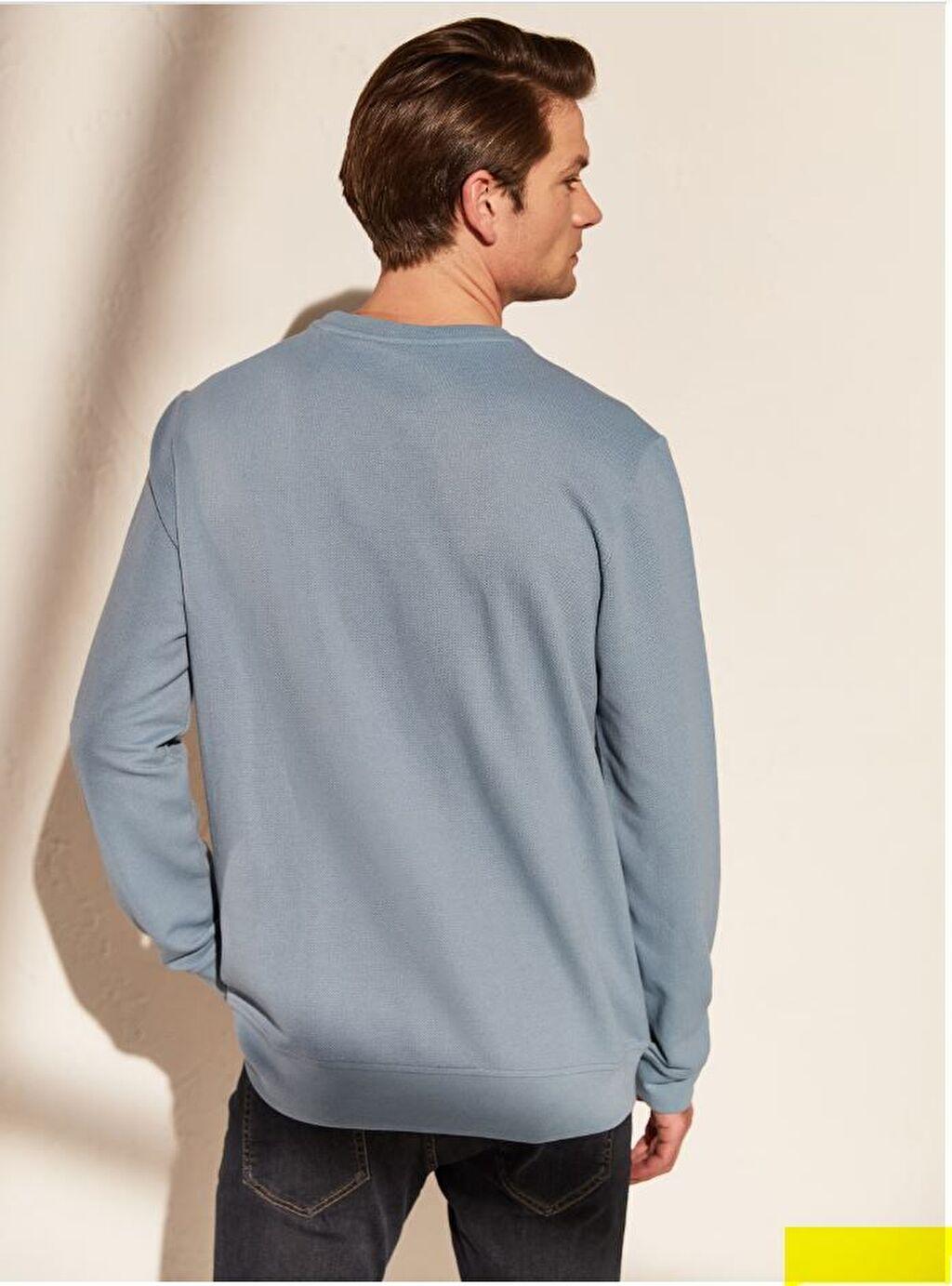 Mavi Bisiklet Yaka Basic Sweatshirt