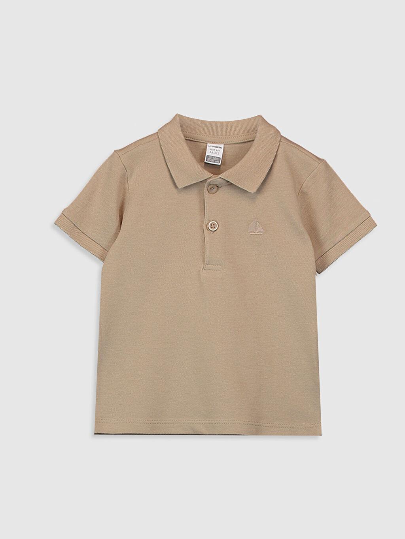 Bej Erkek Bebek Polo Yaka Basic Tişört 0S0258Z1 LC Waikiki