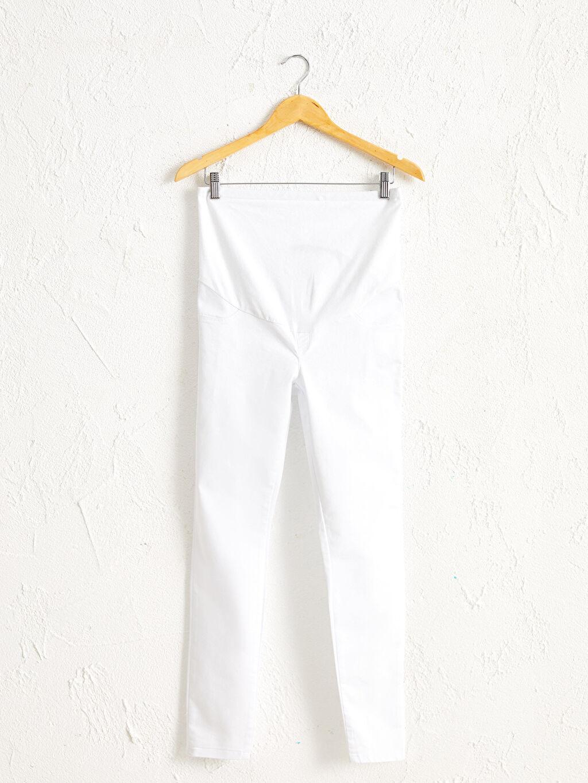 Beyaz Skinny Hamile Pantolon 0S0547Z8 LC Waikiki