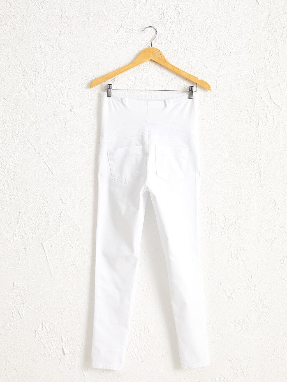 %66 Pamuk %30 Polyester %4 Elastan Skinny Casual Orta Kalınlık Pantolon Düz Gabardin Skinny Hamile Pantolon