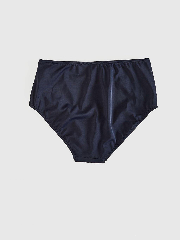 %81 Poliamid %19 Elastan %90 Polyester %10 Elastan Klasik Külot Bikini Alt Çizgili Yüksek Bel Bikini Alt