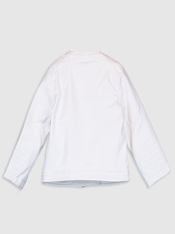 %100 Poliüretan %100 Polyester Deri Görünümlü Mont Kısa Penye Astar Kapüşonsuz Polar Düz İnce Uzun Kol Kız Bebek Deri Görünümlü Ceket
