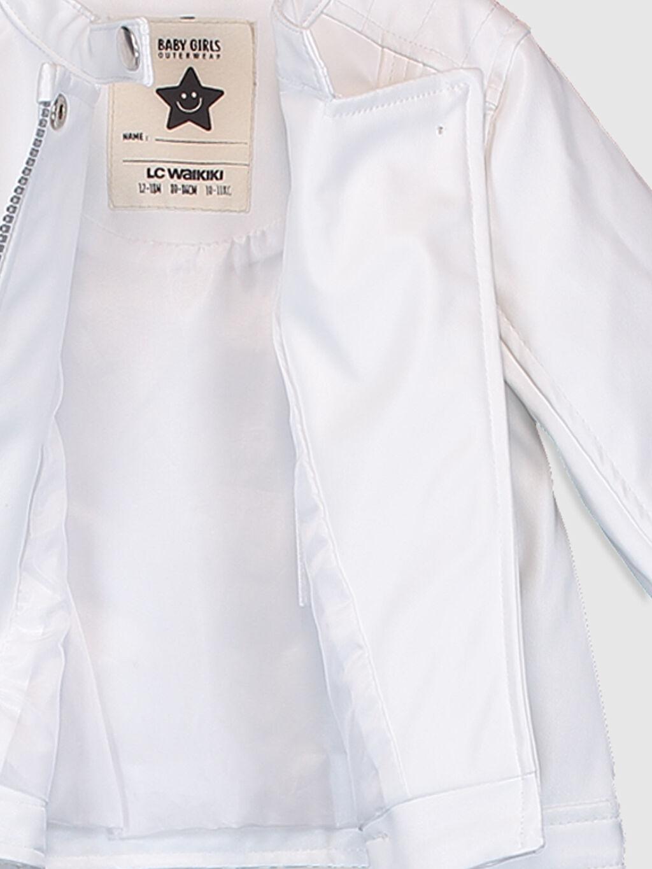 Kız Bebek Kız Bebek Deri Görünümlü Ceket