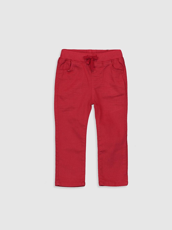 %98 Pamuk %2 Elastan Astarsız Dar Pantolon Gabardin Aksesuarsız %100 Pamuk İnce Düz Erkek Bebek Gabardin Pantolon