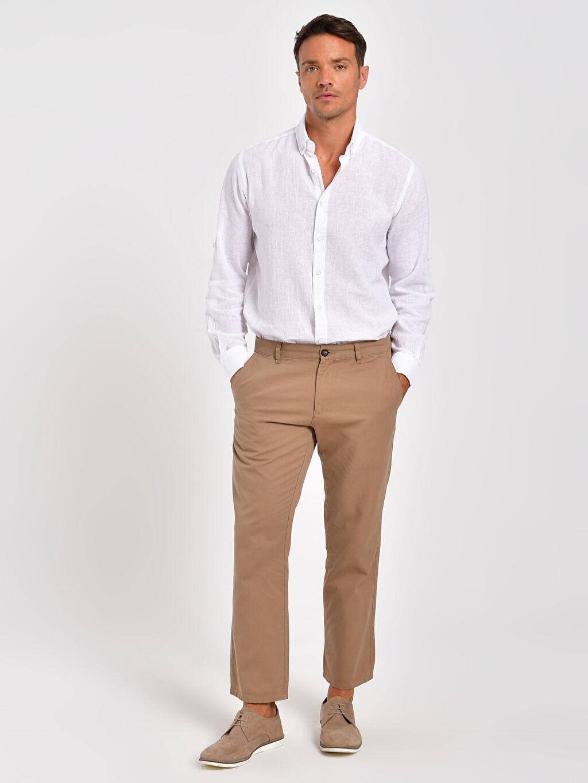 %100 Pamuk %100 Pamuk Chino Pantolon Standart Gabardin İnce Normal Kalıp Gabardin Chino Pantolon