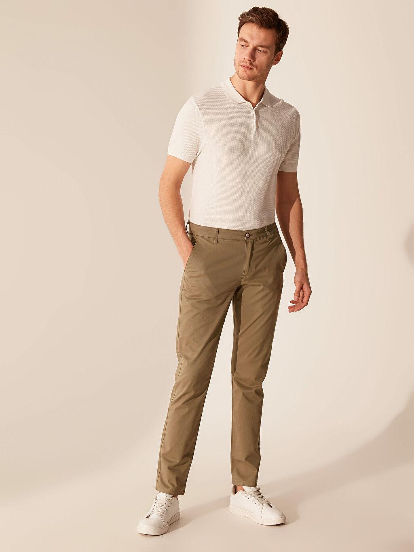 Haki Slim Fit Gabardin Chino Pantolon 0S1740Z8 LC Waikiki