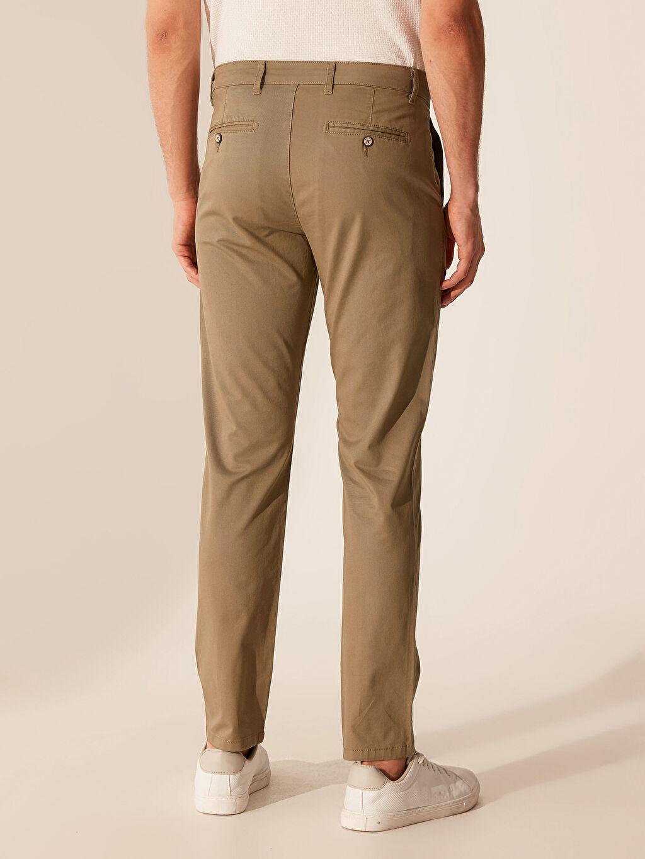 %97 Pamuk %3 Elastan Slim Fit Gabardin Chino Pantolon