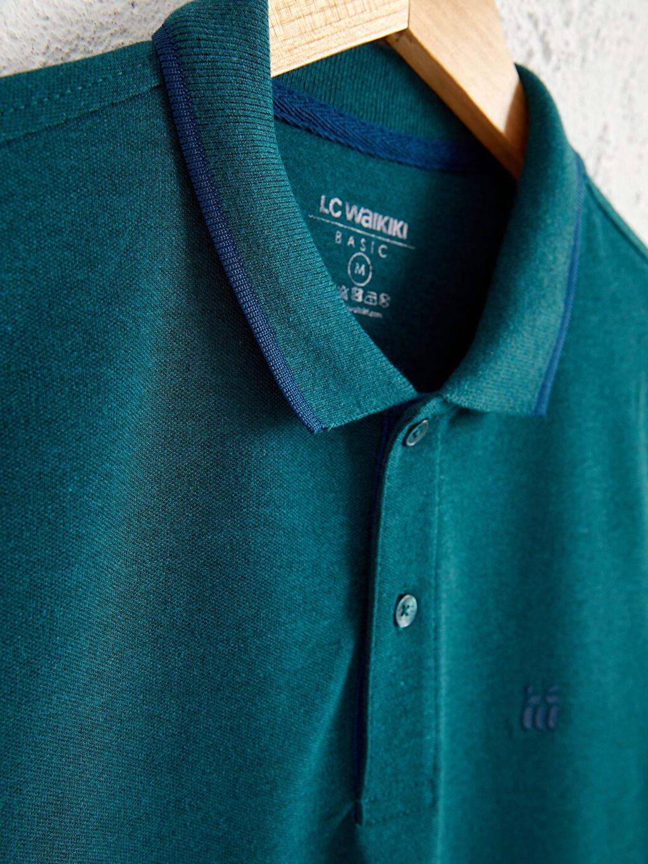 %61 Pamuk %39 Polyester Düz Standart İnce Kısa Kol Tişört Polo Yaka Pike Polo Yaka Basic Kısa Kollu Pike Tişört