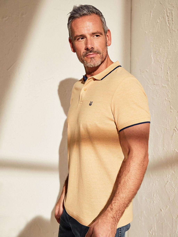 %60 Pamuk %40 Polyester Düz Standart İnce Kısa Kol Tişört Polo Yaka Pike Polo Yaka Basic Kısa Kollu Pike Tişört
