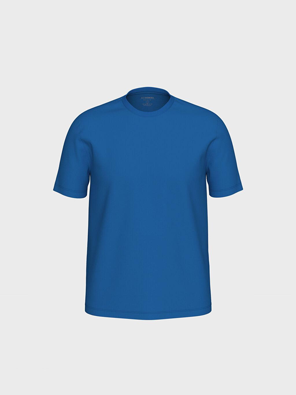 Mavi Bisiklet Yaka Basic Penye Tişört 0S1780Z8 LC Waikiki