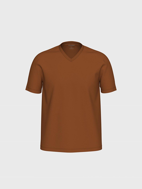 Turuncu V Yaka Basic Tişört 0S1781Z8 LC Waikiki