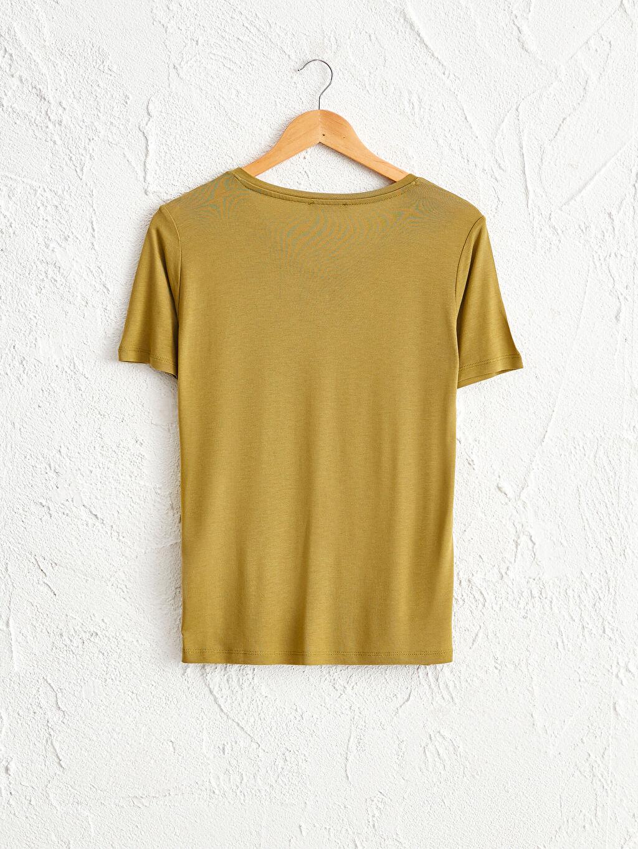 %100 Viskon İnce Standart Tişört V Yaka Kısa Kol Düz Penye %100 Pamuk V Yaka Viskon Tişört
