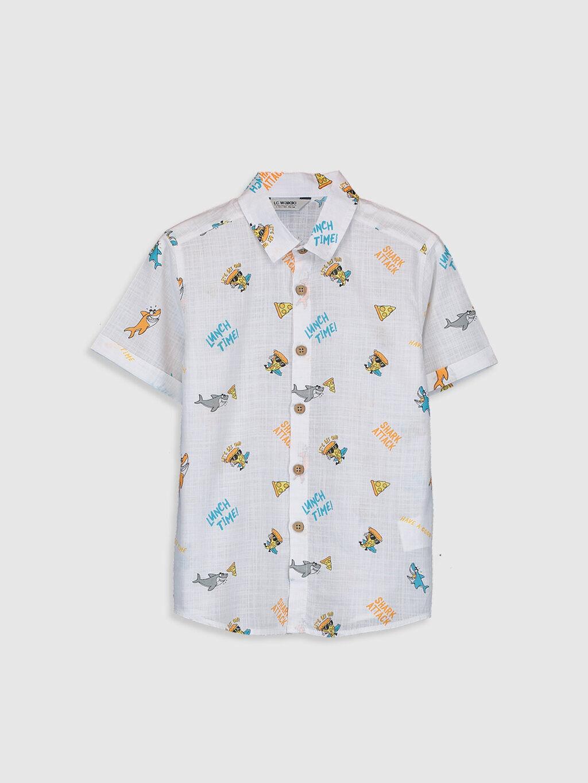 Erkek Çocuk Erkek Çocuk Desenli Gömlek