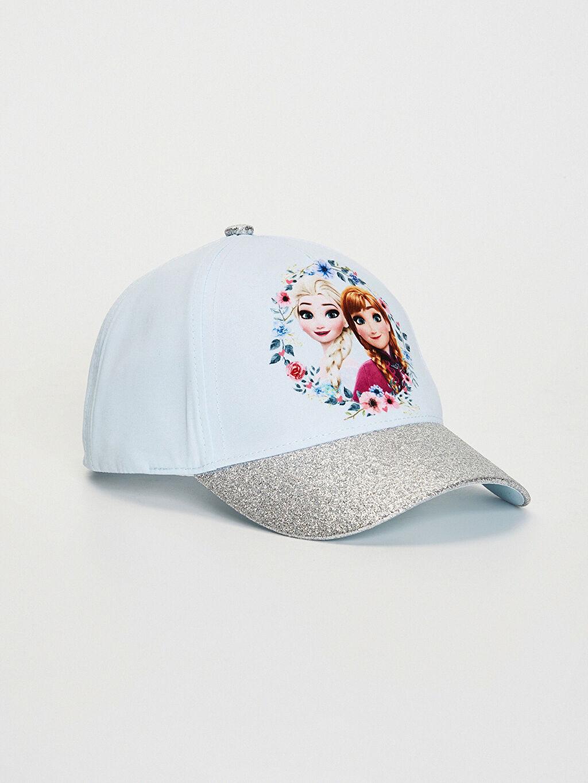 Mavi Kız Çocuk Frozen Lisanslı Şapka 0S6389Z4 LC Waikiki