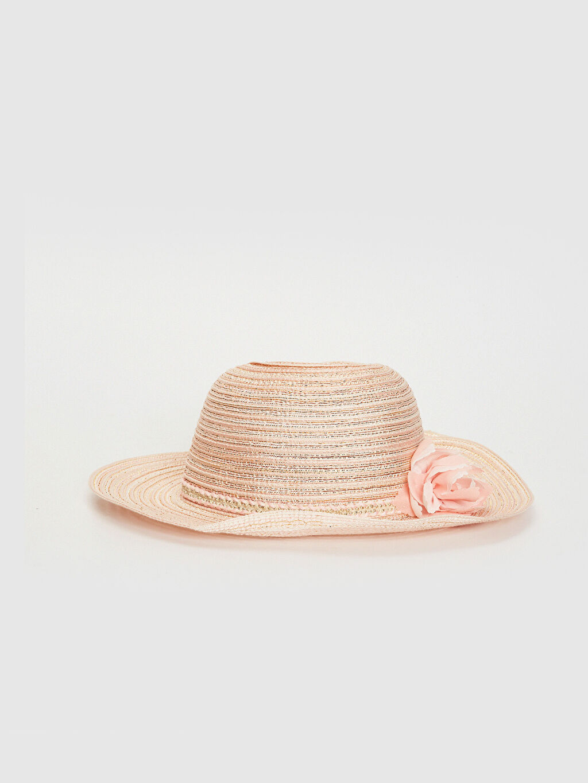 Pembe Kız Çocuk Hasır Fötr Şapka 0S6488Z4 LC Waikiki