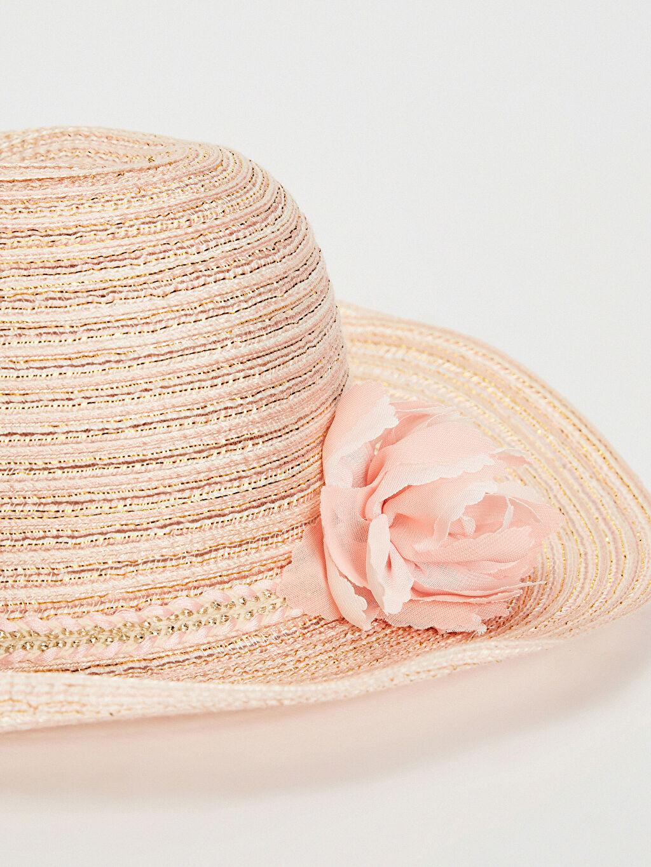 %98 Polyester %2 Metalik iplik Şapka Hasır Astarsız Kız Çocuk Hasır Fötr Şapka