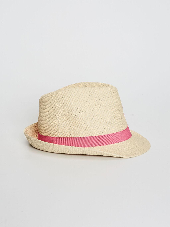 %100 Kağıt %100 Polyester Hasır Astarsız Şapka Kız Çocuk Hasır Şapka