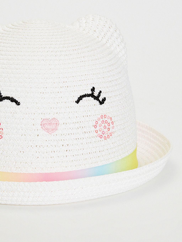 %18 Poliester %82 Kağıt Şapka Hasır Astarsız Kız Çocuk Hasır Fötr Şapka