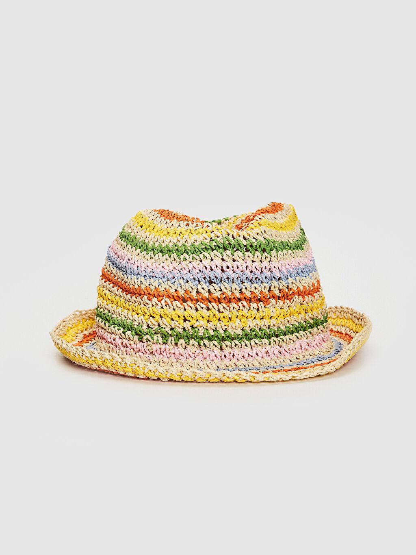 Çok Renkli Kız Çocuk Hasır Fötr Şapka 0S6717Z4 LC Waikiki