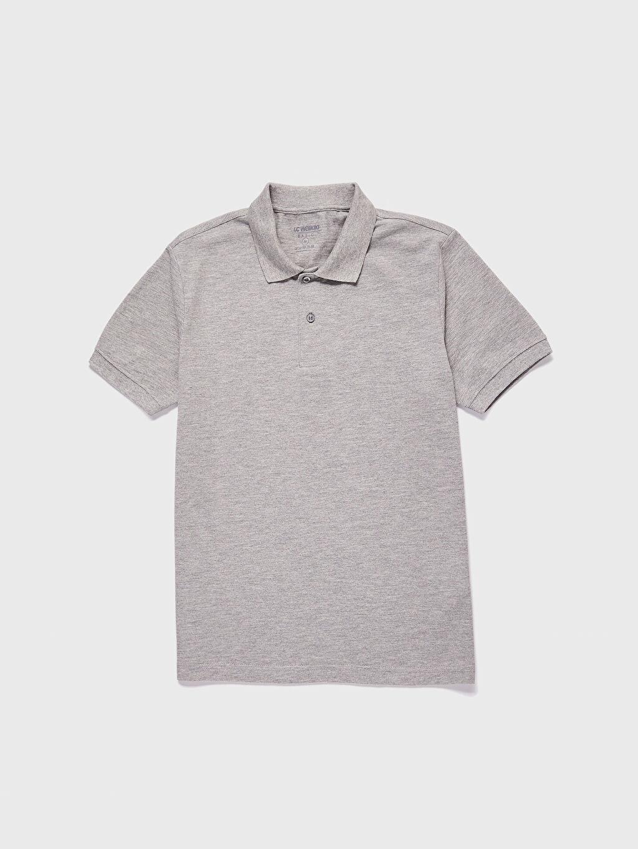 %93 Pamuk %7 Viskon İnce %100 Pamuk Polo Yaka Kısa Kol Düz Standart Tişört Pike Polo Yaka Basic Pike Tişört
