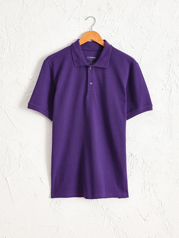 %100 Pamuk İnce %100 Pamuk Polo Yaka Kısa Kol Düz Standart Tişört Pike Polo Yaka Basic Pike Tişört