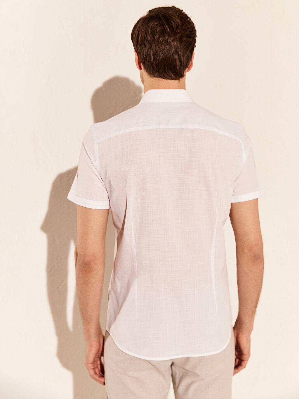 Erkek Slim Fit Kısa Kollu Gömlek