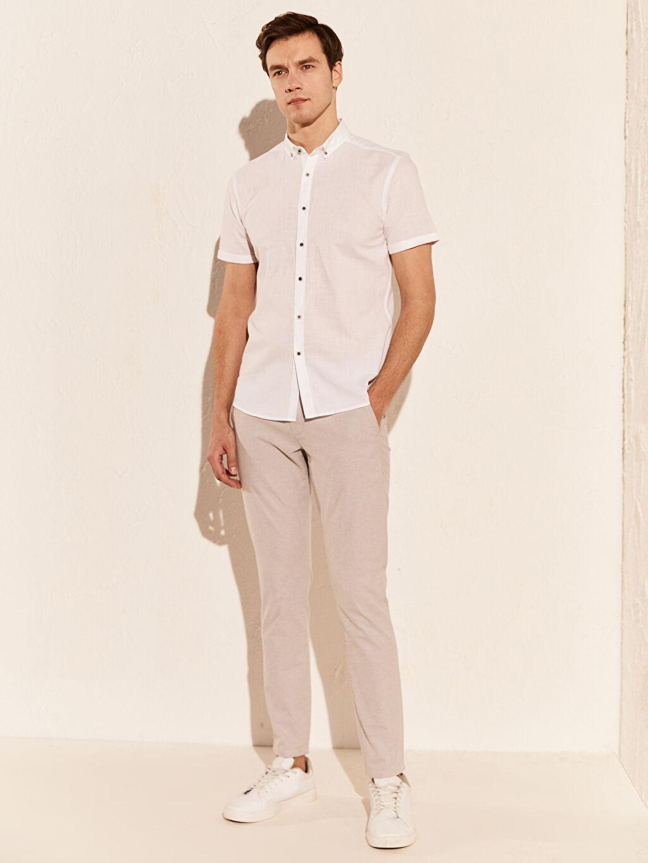 Slim Fit Kısa Kollu Gömlek