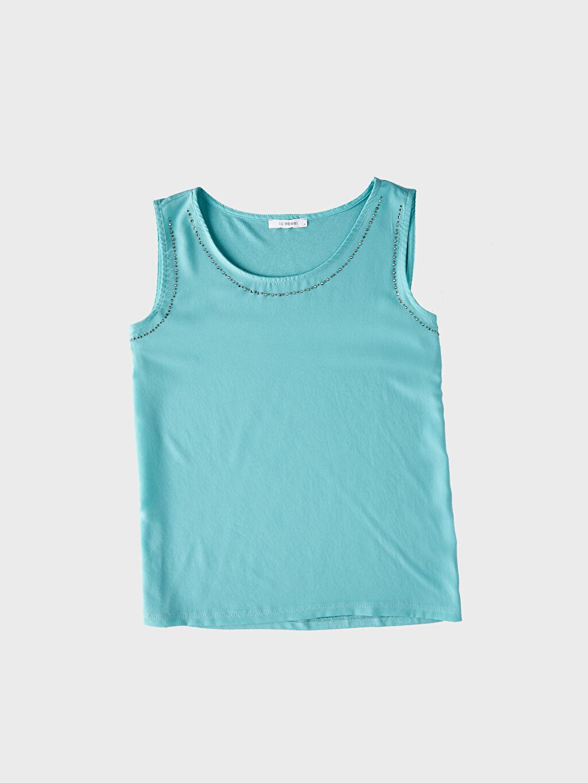 %100 Polyester Viskon Salaş Atlet