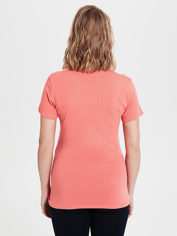 0S8960Z8 Baskılı Pamuklu Hamile Tişört