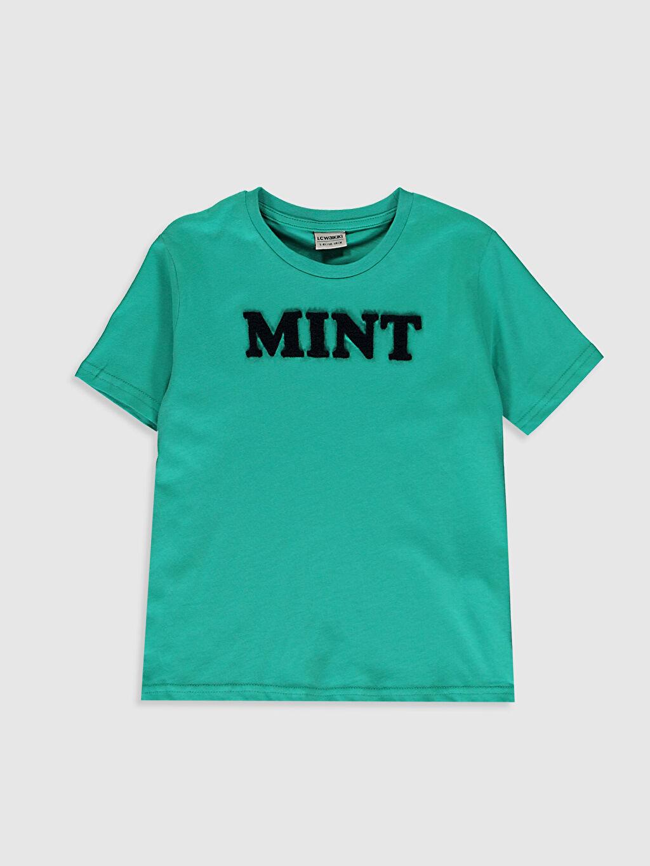 Turkuaz Erkek Çocuk Baskılı Pamuklu Tişört 0S9141Z4 LC Waikiki