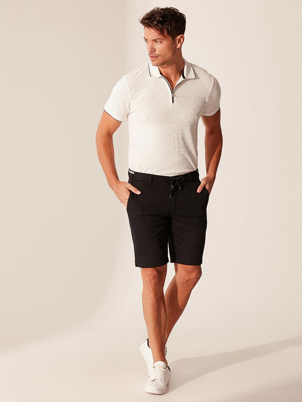 Erkek Slim Fit Bermuda Şort