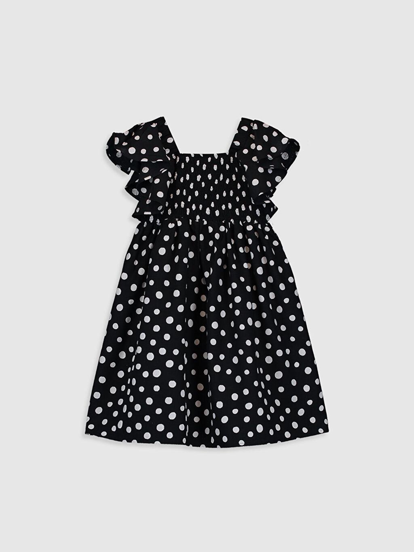 Siyah Kız Çocuk Puantiyeli Elbise 0SG492Z4 LC Waikiki