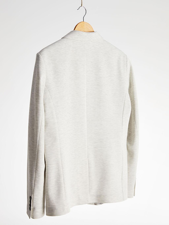 %32 Pamuk %68 Polyester Standart Kalıp Blazer Ceket