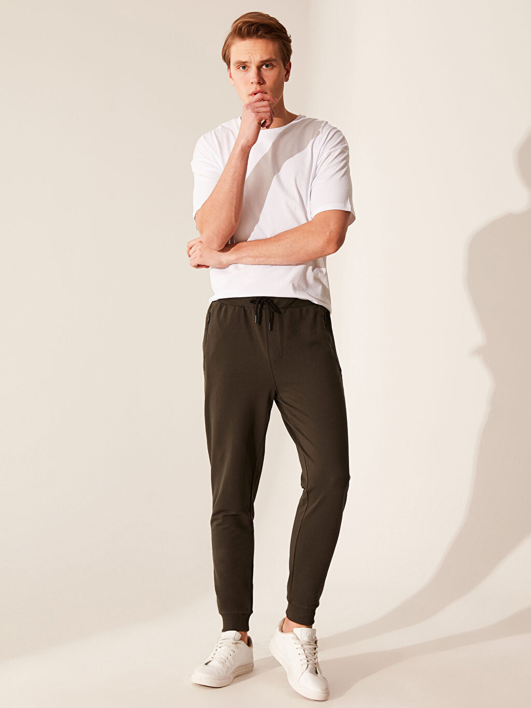 %51 Pamuk %49 Polyester Diğer Eşofman Altı Standart İnce Sweatshirt Kumaşı Orta Kalınlık Slim Fit Jogger Eşofman Altı