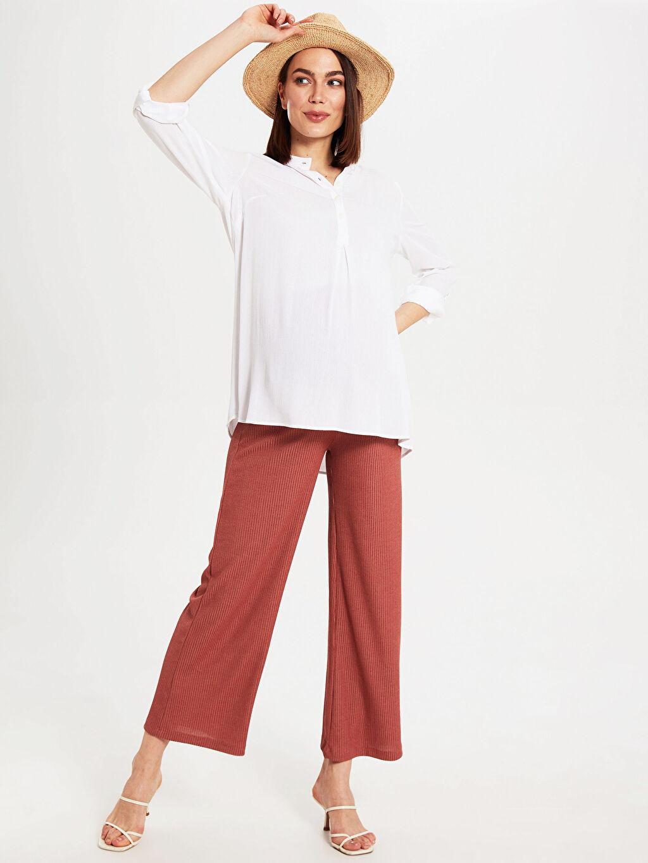 %80 Polyester %20 Viskoz İnce Düz Uzun Günlük Kaşkorse Eşofman Altı Düz Hamile Bol Pantolon