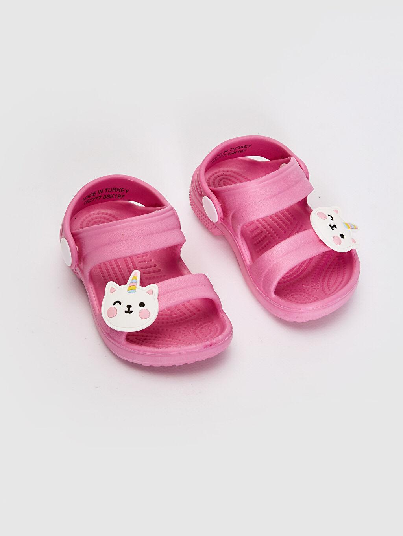 %0 Diğer malzeme (eva) Bağcık Işıksız Sandalet EVA Astar Kız Bebek Sandalet