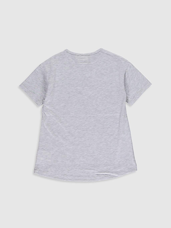 %47 Pamuk %53 Polyester Kız Çocuk Baskılı Tişört