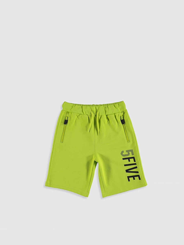 Yeşil Erkek Çocuk Baskılı Şort 0SK738Z4 LC Waikiki