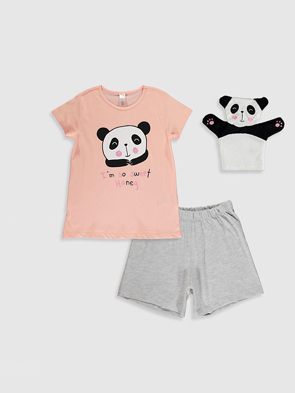 Pembe Kız Çocuk Pijama Takımı ve Kukla 0SL856Z4 LC Waikiki