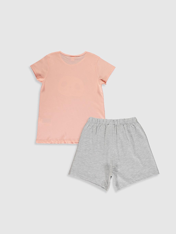 %48 Pamuk %52 Polyester İnce %100 Pamuk Kısa Kol Penye Standart Pijama Takım Kız Çocuk Pijama Takımı ve Kukla