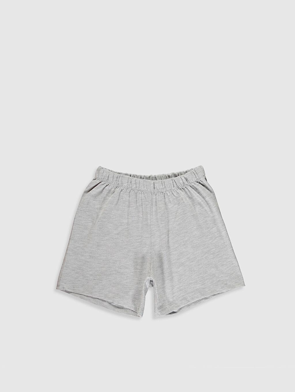 %48 Pamuk %52 Polyester Kız Çocuk Pijama Takımı ve Kukla