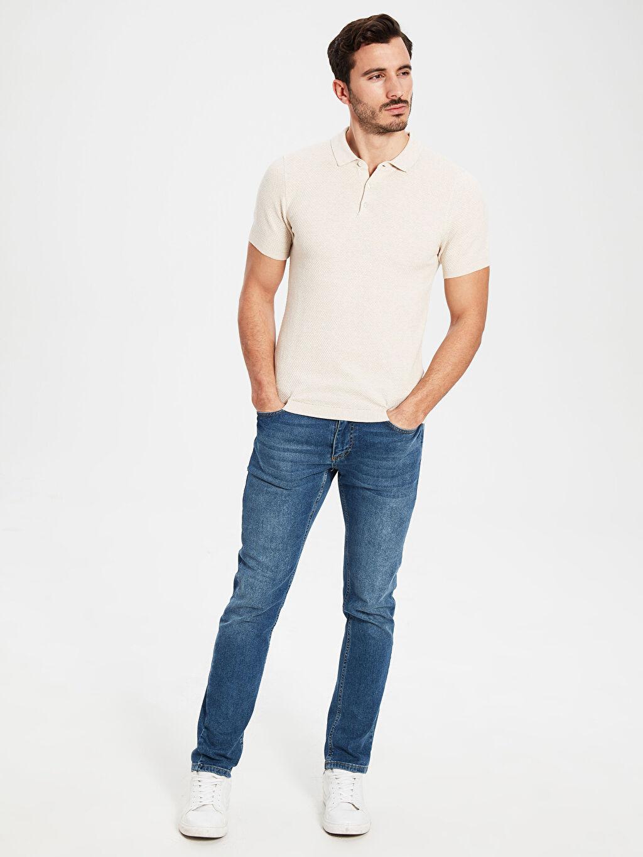 0SM481Z8 Slim Fit Polo Yaka Kısa Kollu Tişört