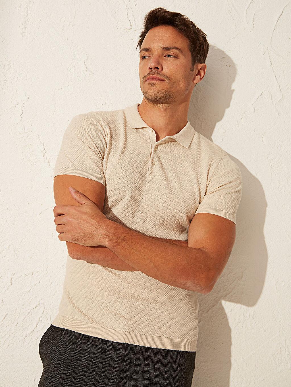 %100 Pamuk Slim Fit Polo Yaka Kısa Kollu Tişört
