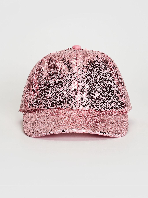 Pembe Kız Çocuk Payetli Şapka 0SM817Z4 LC Waikiki