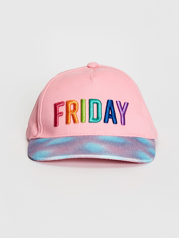 Pembe Kız Çocuk Nakış İşlemeli Şapka 0SM855Z4 LC Waikiki