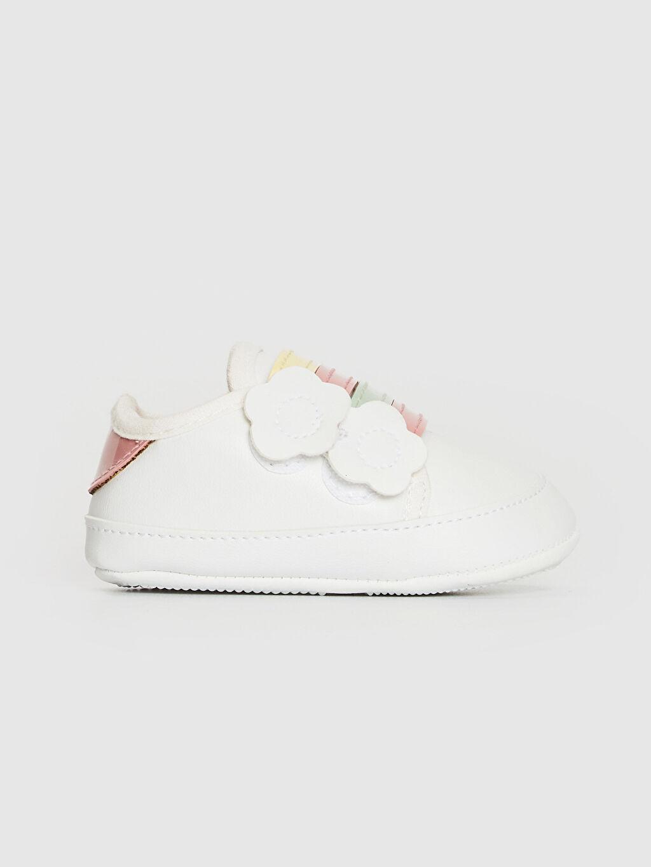 %0 Diğer malzeme (poliüretan) Işıksız Pamuk Astar Yürümeyen Cırt Cırt Kız Bebek Cırt Cırtlı Yürüme Öncesi Ayakkabı