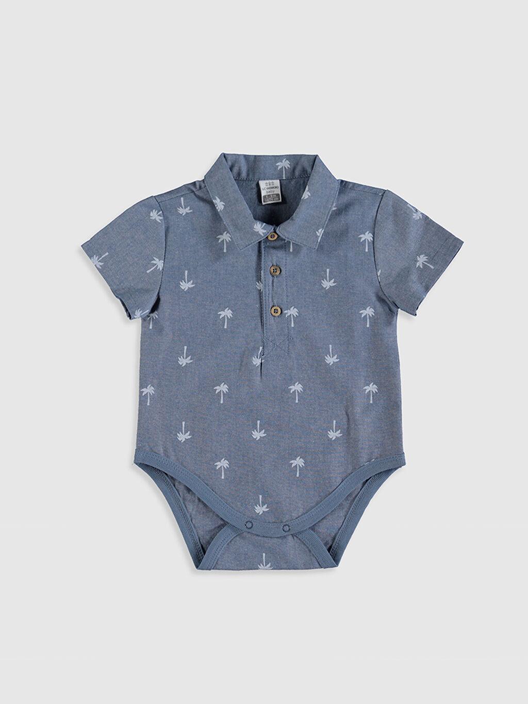 İndigo Erkek Bebek Baskılı Pamuklu Çıtçıtlı Body 0SN377Z1 LC Waikiki